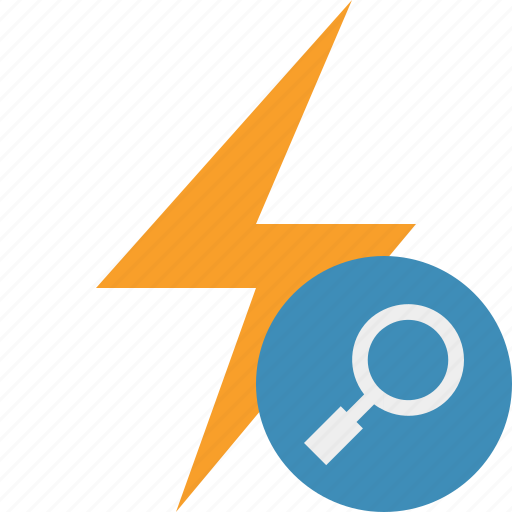 charge, energy, flash, power, search, thunder icon