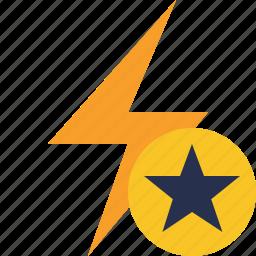 charge, energy, flash, power, star, thunder icon