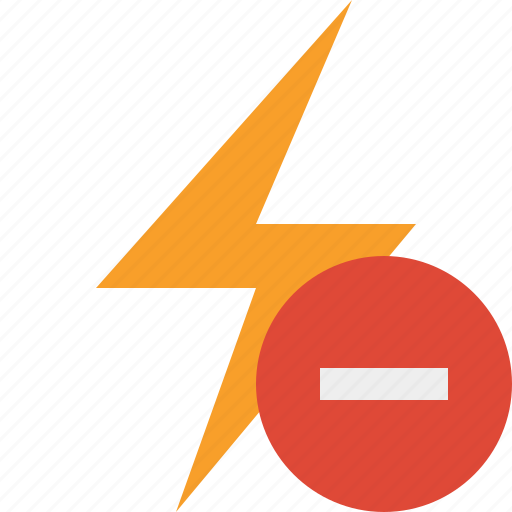 charge, energy, flash, power, stop, thunder icon