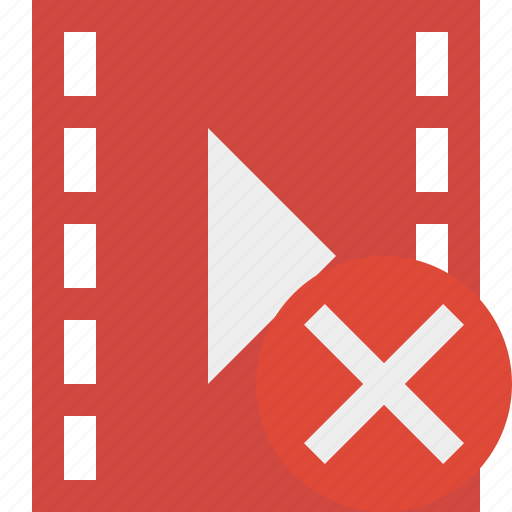 cancel, cinema, film, media, movie, video icon