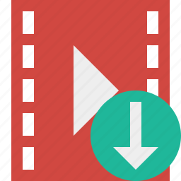 cinema, download, film, media, movie, video icon