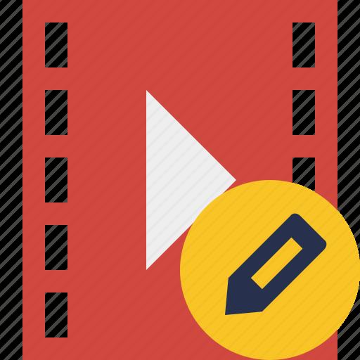 cinema, edit, film, media, movie, video icon