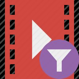 cinema, film, filter, media, movie, video icon