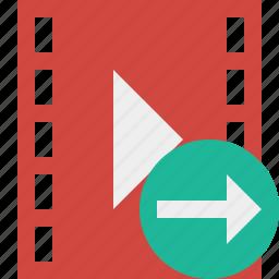 cinema, film, media, movie, next, video icon