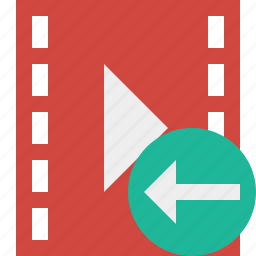 cinema, film, media, movie, previous, video icon