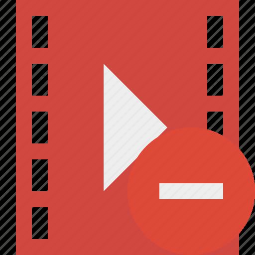 cinema, film, media, movie, stop, video icon