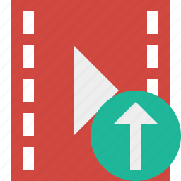 cinema, film, media, movie, upload, video icon