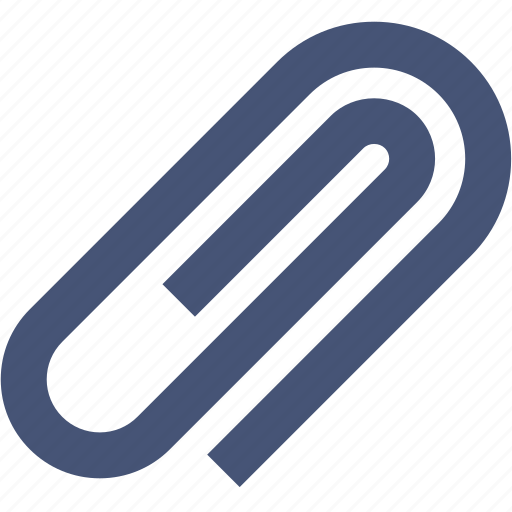 attach, attachment, clip, paper, paperclip icon