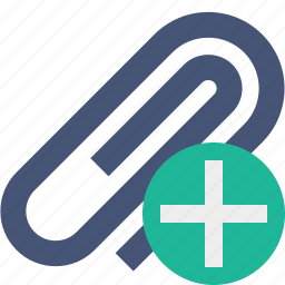 add, attach, attachment, clip, paper, paperclip icon