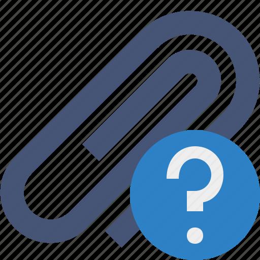 attach, attachment, clip, help, paper, paperclip icon