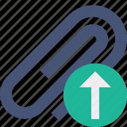 attach, attachment, clip, paper, paperclip, upload icon