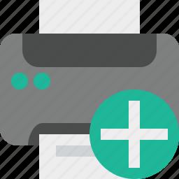 add, document, paper, print, printer, printing icon