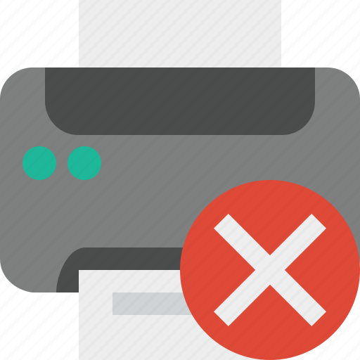 cancel, document, paper, print, printer, printing icon
