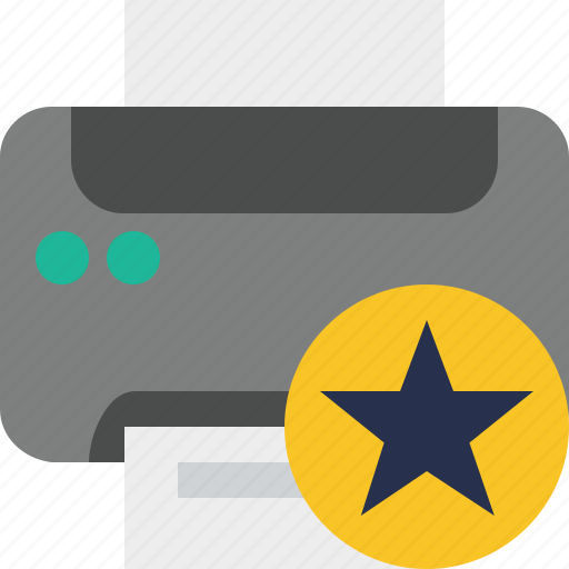 Document, paper, print, printer, printing, star icon - Download on Iconfinder