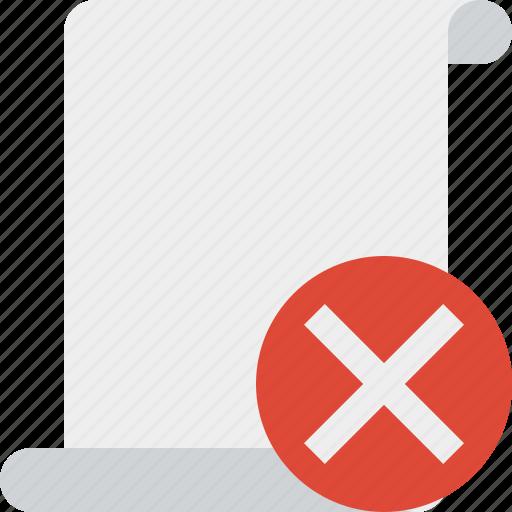 blank, cancel, code, paper, script, scroll icon