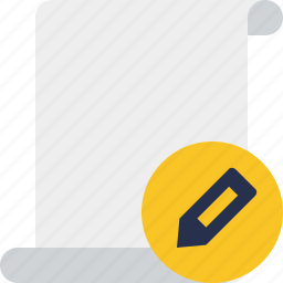 blank, code, edit, paper, script, scroll icon