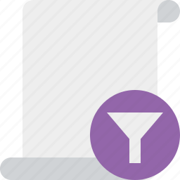 blank, code, filter, paper, script, scroll icon