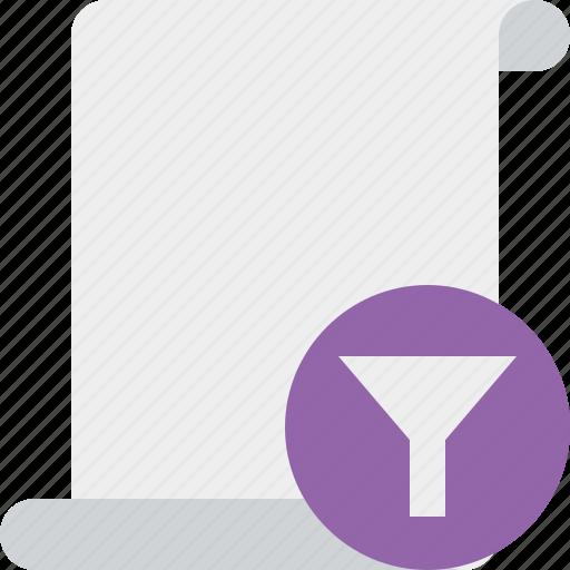 blank, code, filter, paper, script, scroll icon