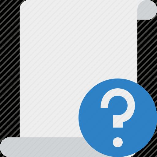 blank, code, help, paper, script, scroll icon