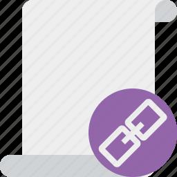 blank, code, link, paper, script, scroll icon