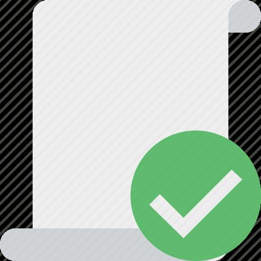 blank, code, ok, paper, script, scroll icon