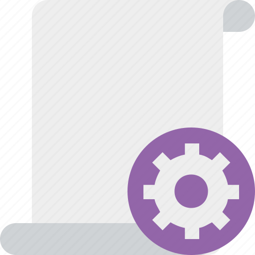 blank, code, paper, script, scroll, settings icon