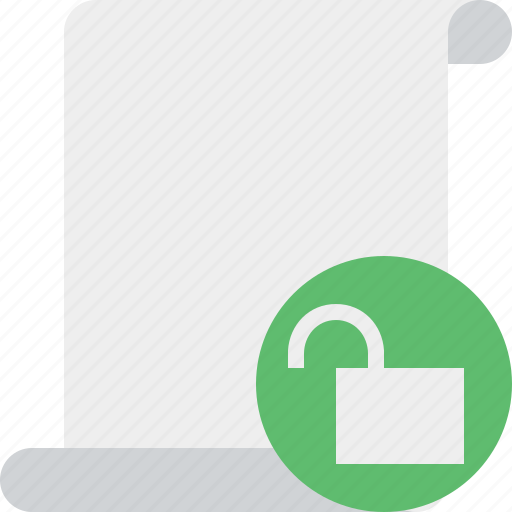 blank, code, paper, script, scroll, unlock icon