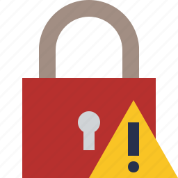 access, lock, password, protection, secure, warning icon