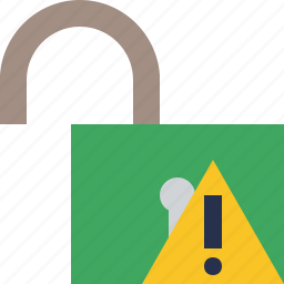 access, password, protection, secure, unlock, warning icon
