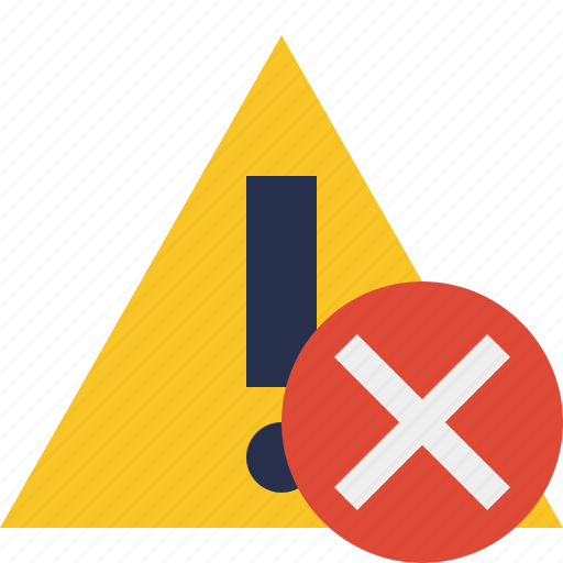 alert, cancel, caution, error, exclamation, warning icon