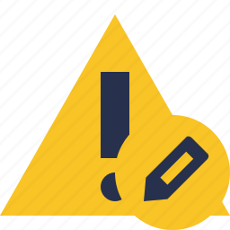 alert, caution, edit, error, exclamation, warning icon