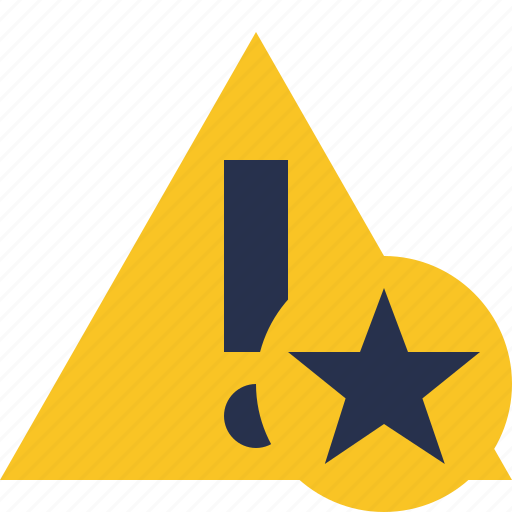 alert, caution, error, exclamation, star, warning icon
