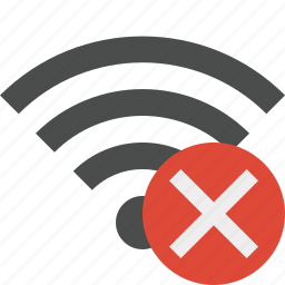 cancel, connection, internet, wifi, wireless icon