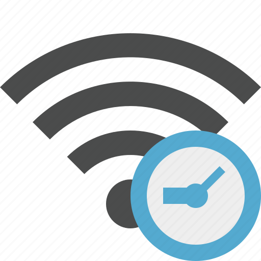 clock, connection, internet, wifi, wireless icon