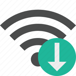 connection, download, internet, wifi, wireless icon