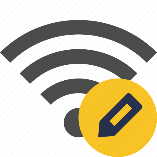 connection, edit, internet, wifi, wireless icon