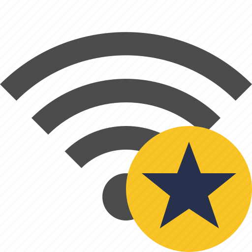 connection, internet, star, wifi, wireless icon