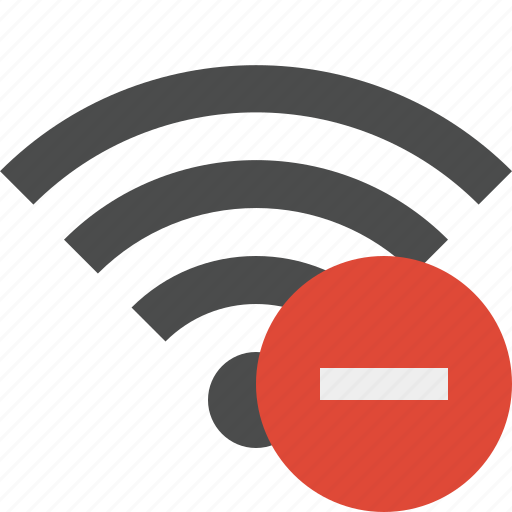 connection, internet, stop, wifi, wireless icon