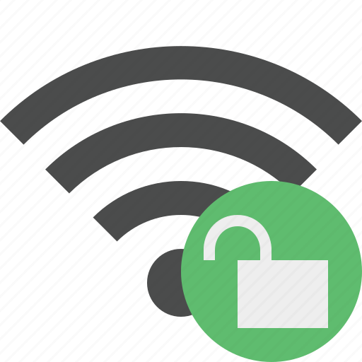connection, internet, unlock, wifi, wireless icon