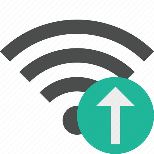 connection, internet, upload, wifi, wireless icon