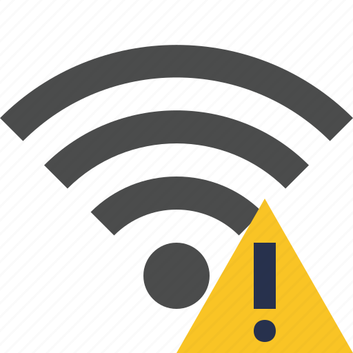 connection, internet, warning, wifi, wireless icon