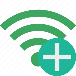 add, connection, green, internet, wifi, wireless icon