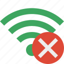 cancel, green, connection, internet, wifi, wireless