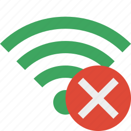 cancel, connection, green, internet, wifi, wireless icon