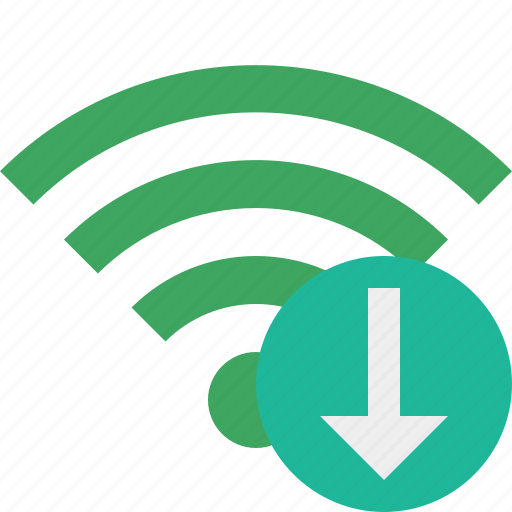 connection, download, green, internet, wifi, wireless icon