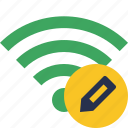 edit, green, connection, internet, wifi, wireless