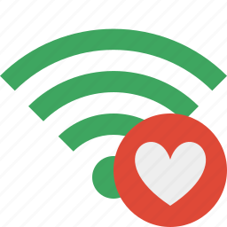 connection, favorites, green, internet, wifi, wireless icon