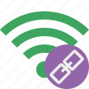 green, link, connection, internet, wifi, wireless