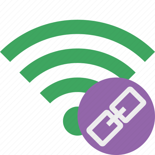 connection, green, internet, link, wifi, wireless icon