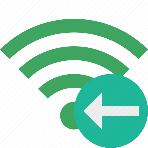 connection, green, internet, previous, wifi, wireless icon